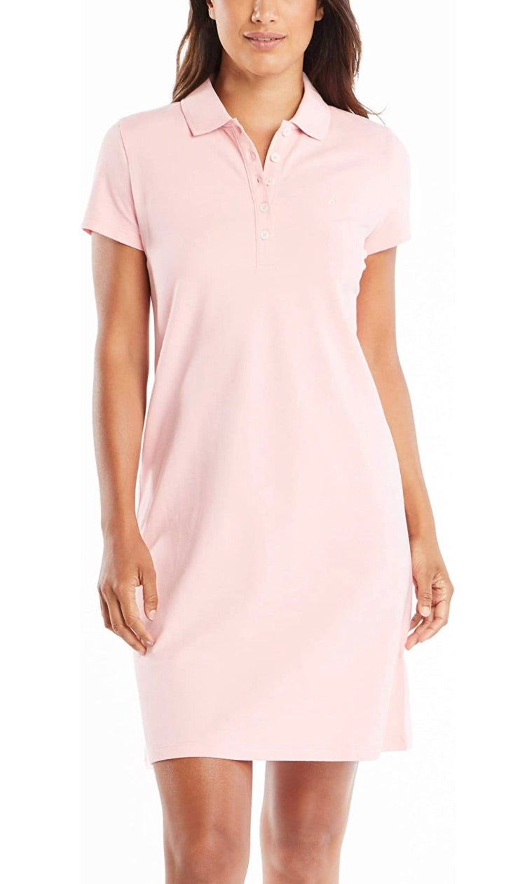 Nautica Women's Easy Classic Short Sleeve Stretch Cotton Polo Dress
