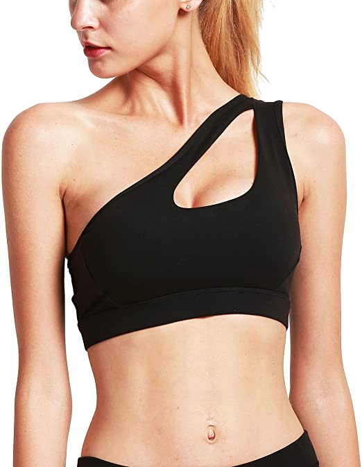 Running Girl One Shoulder Sports Bra