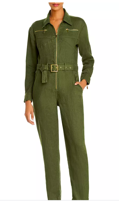 Who Wore What Belted Utility Jumpsuit