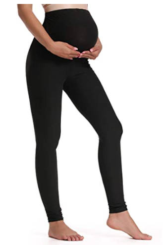 Foucome Women's Maternity Leggings Over The Belly