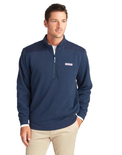 Vineyard Vines Men's Collegiate Shep Shirt Half Zip Pullover