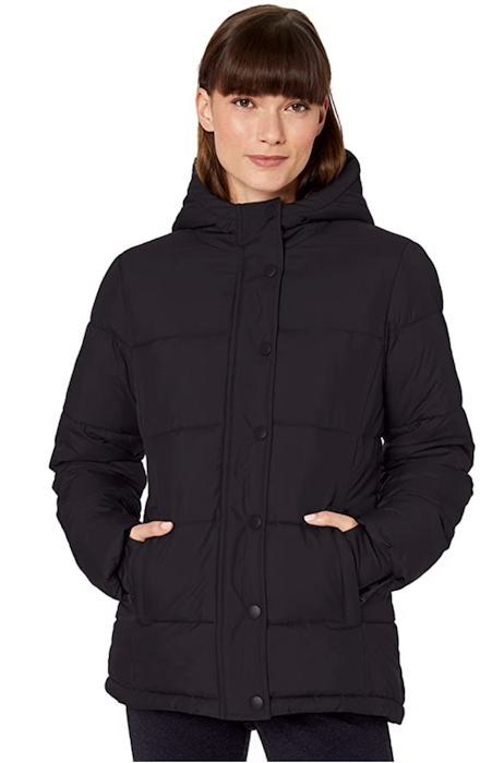 Amazon Essentials Women's Heavy-Weight Long-Sleeve Full-Zip Hooded Puffer Coat