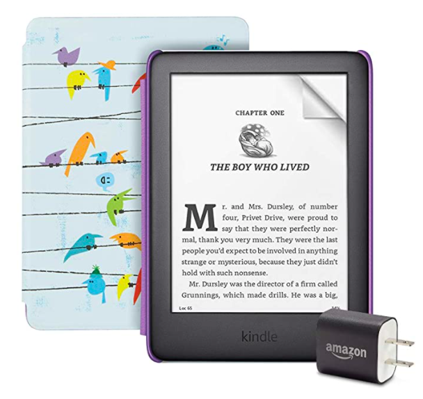 Amazon Kindle Kids Edition Essentials Bundle including Screen Protector and Power Adapter