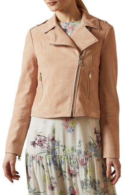 Ted Baker London Elexa Suede Moto Jacket