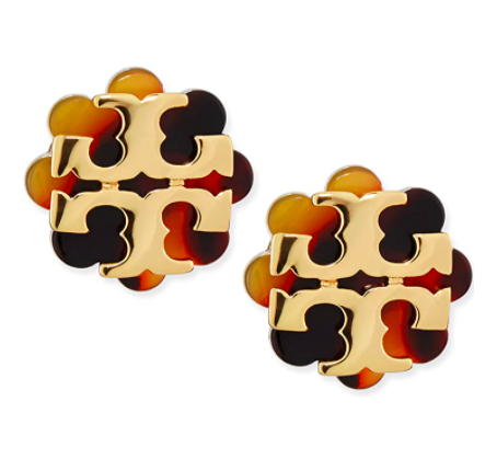 Tory Burch Logo Flower Resin Stud Earring