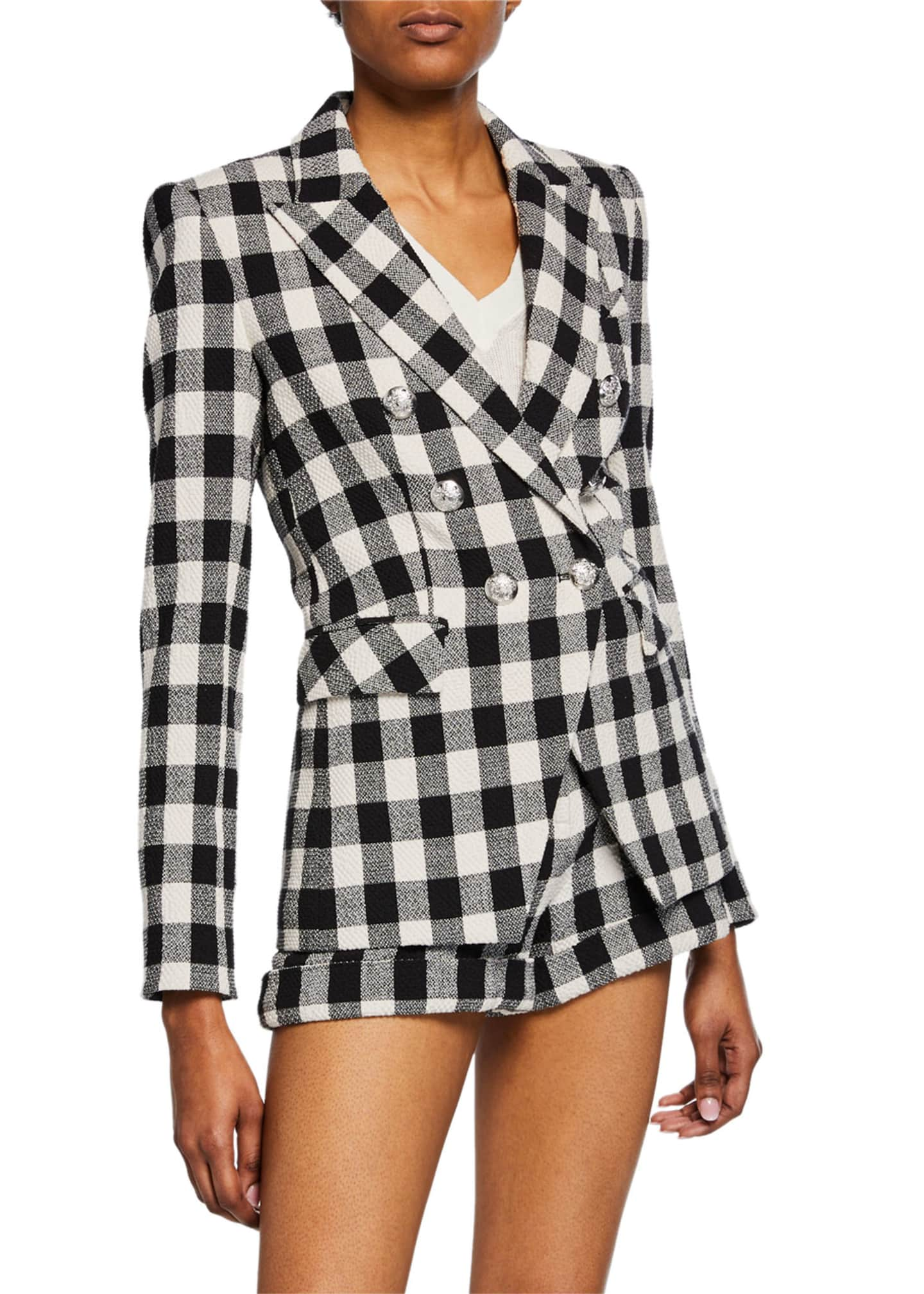 Veronica Beard checked jacket and short