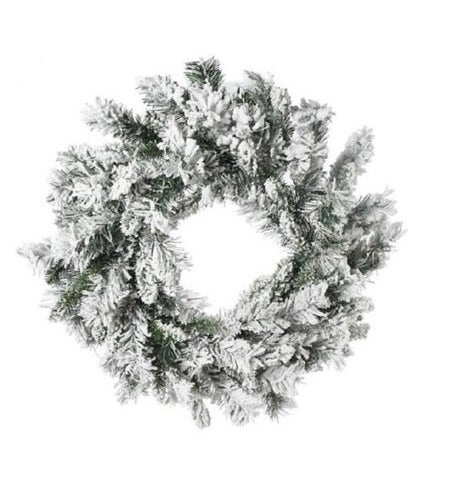 "Direct Export 30"" Flocked Balsam Wreath"