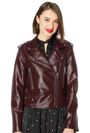 BLANKNYC women's Vegan Leather Moto Jacket