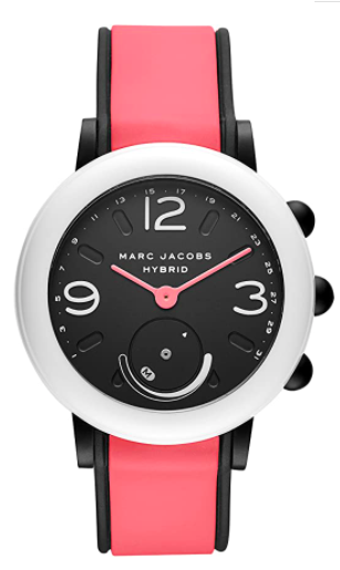 Marc Jacobs Riley Hybrid Smartwatch on Sport Silicone Strap
