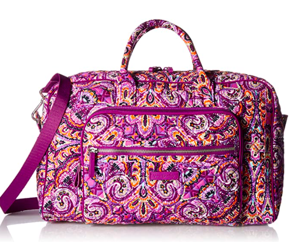 Vera Bradley Signature Cotton Compact Weekender Travel Bag