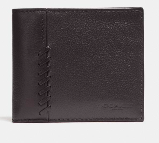 Coach 3-In-1 Wallet With Baseball Stitch