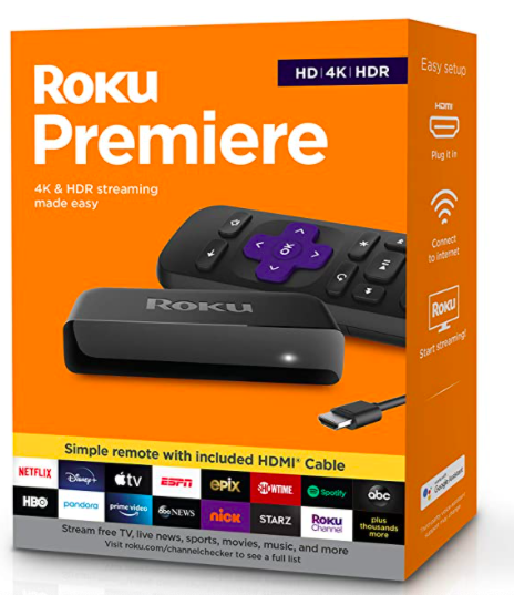 Roku Premiere HD/4K/HDR Streaming Device