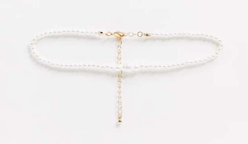 ASOS Choker Necklace in Graduating Pearls