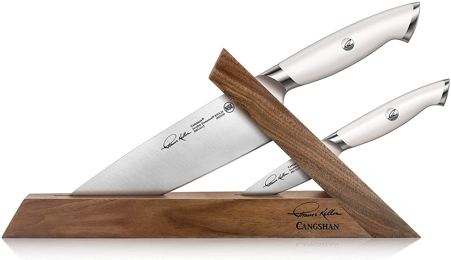 Cangshan Thomas Keller Signature Collection Swedish Powder Steel Forged, 3-Piece TAI Bloc