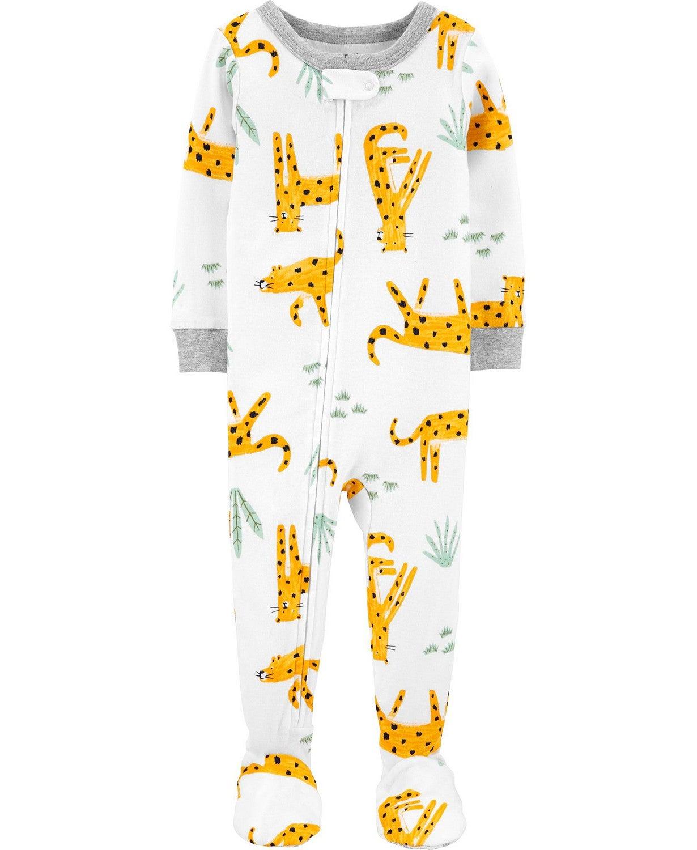 Carter's Carters Baby Boy 1-Piece Cheetah Snug Fit Cotton Footie PJs
