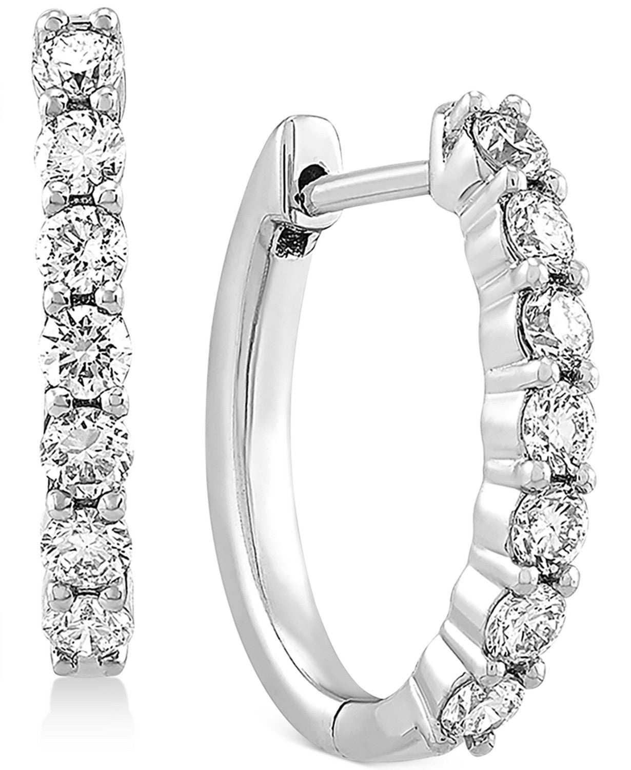 Lab Created Diamond Small Hoop Earrings (5/8 ct. t.w.) in Sterling Silver, .63""