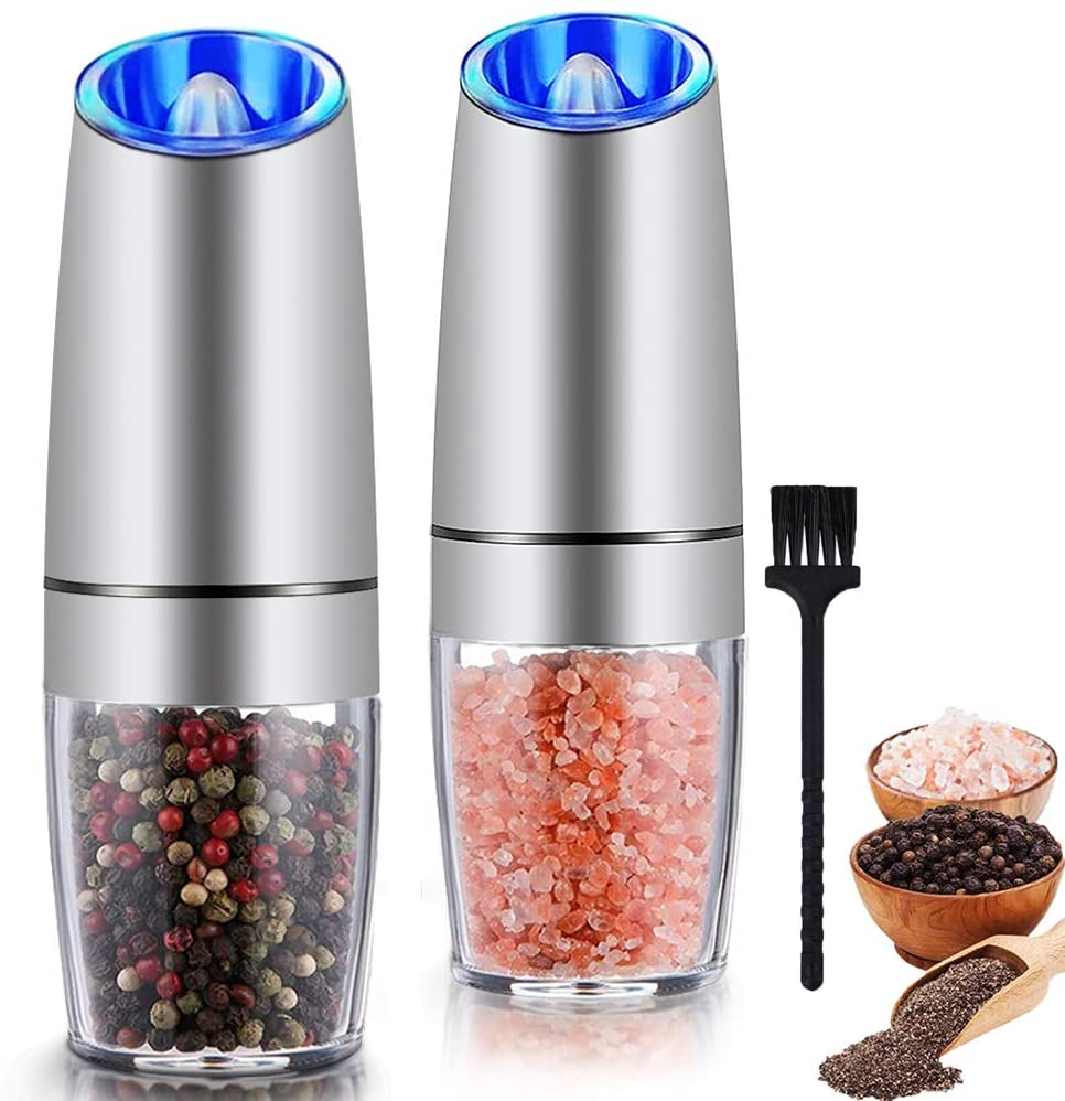 Gravity Electric Salt and Pepper Grinder Set