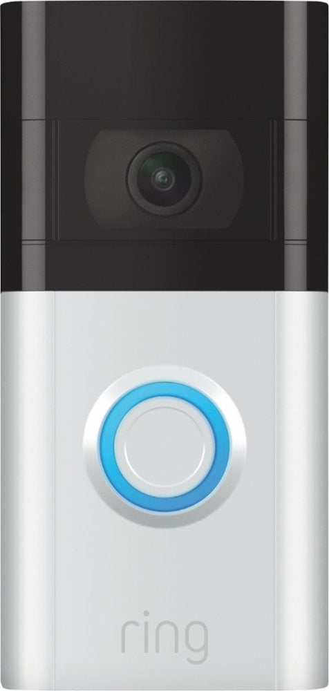 Ring - Video Doorbell 3 - Satin Nickel
