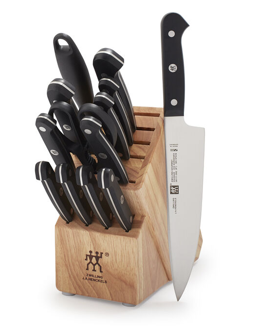 ZWILLING J.A. HENCKELS 14-PIECE GOURMET KNIFE BLOCK