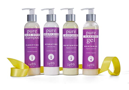 CurlMix Lavender Wash + Go System with Organic Jojoba Oil for Moisturizing Hair