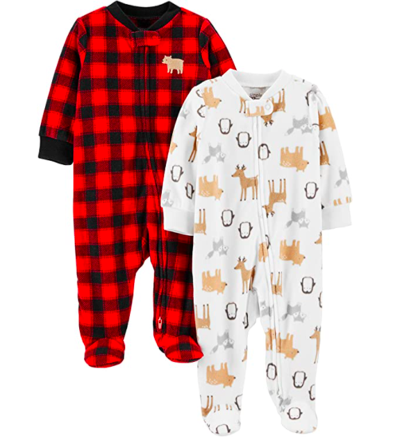 Simple Joys by Carter's Baby 2-Pack Fleece Footed Sleep and Play