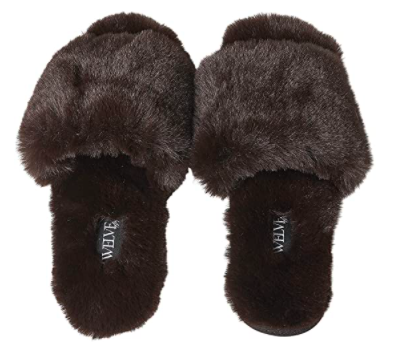 Twelve AM Co. So Good Fluffy Slippers