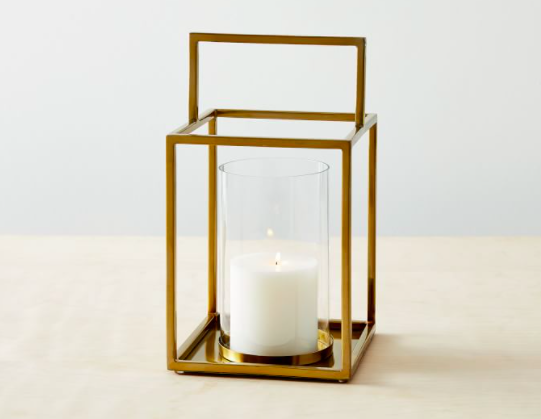 West Elm Framed Metal Lanterns - Brass