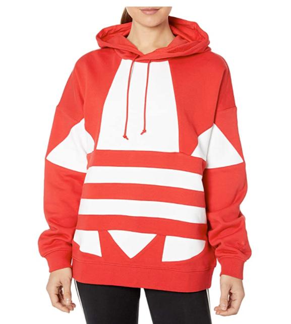adidas Originals Women's Large Logo Hoodie Sweatshirt