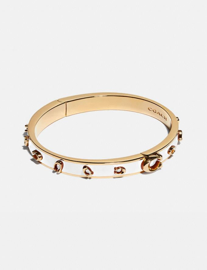 Coach Pegged Signature Bangle