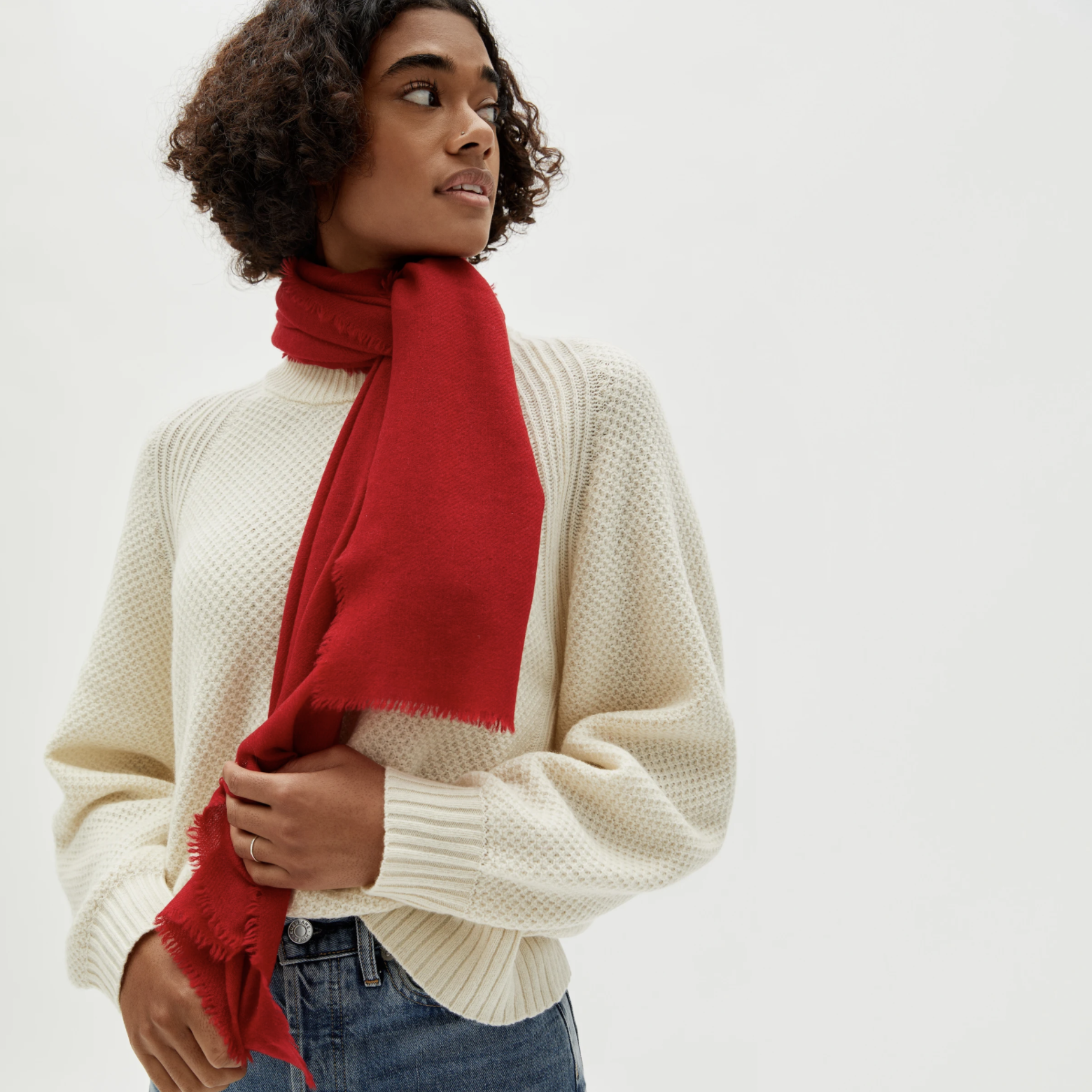 Everlane The Featherweight Cashmere Scarf