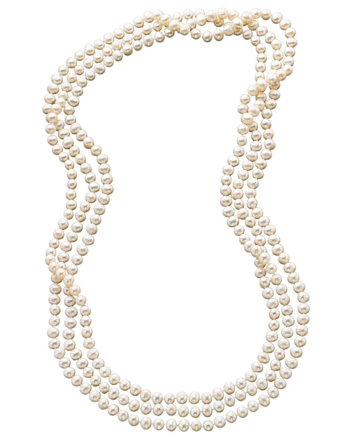 "Macy's 100"" Cultured Freshwater Pearl Endless Strand Necklace"