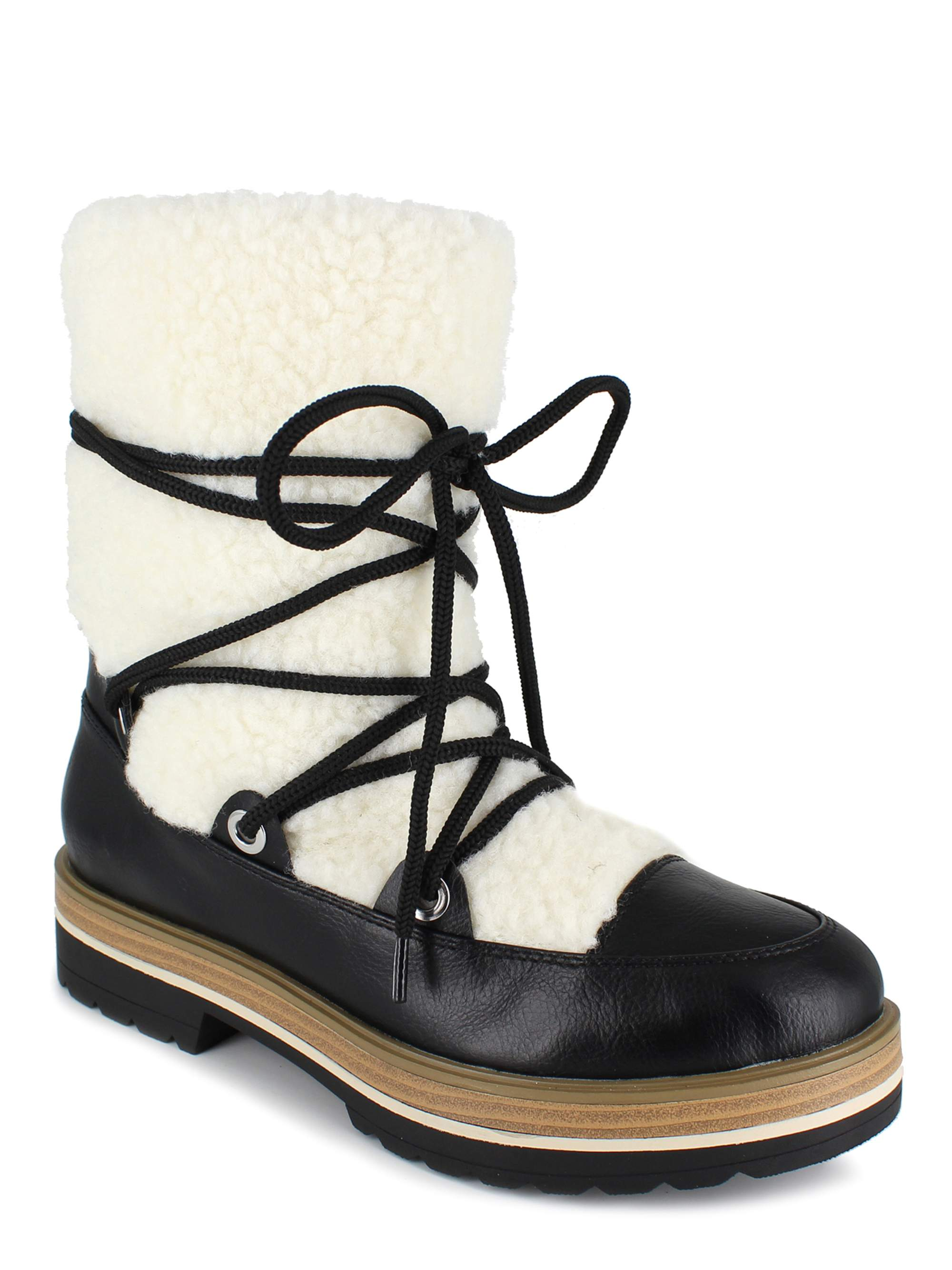 PORTLAND by Portland Boot Company Shearling Lace Up Boot