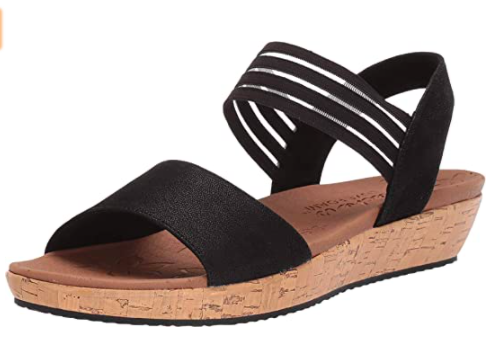 Skechers Women's Brie-Lo'profile-Stretch Mesh Vamp Sling Back Sandal Sport