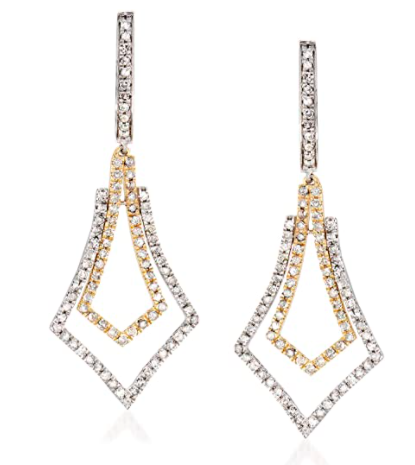 Ross-Simons 1.00 ct. t.w. Diamond Drop Earrings