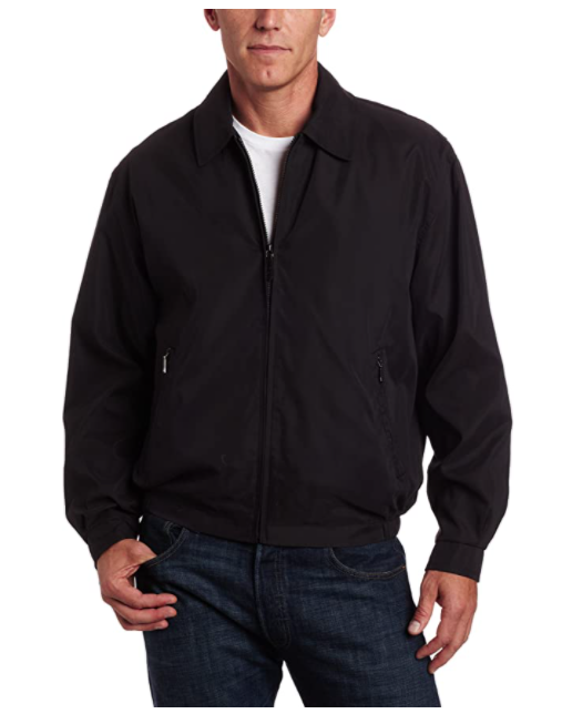 LONDON FOG Men's Auburn Zip-Front Golf Jacket London Fog Regular Big-Tall Coat