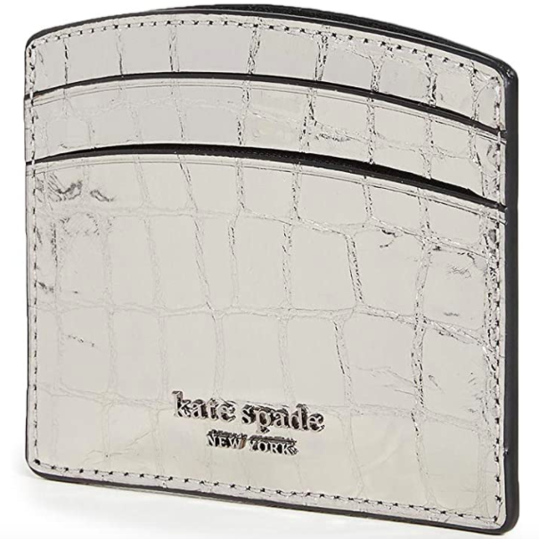 Kate Spade New York Women's Sylvia Croc Embossed Card Holder