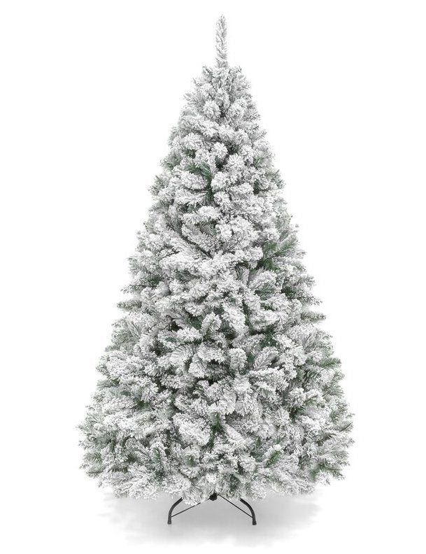 Snow Flocked Hinged Artificial Pine Christmas Tree