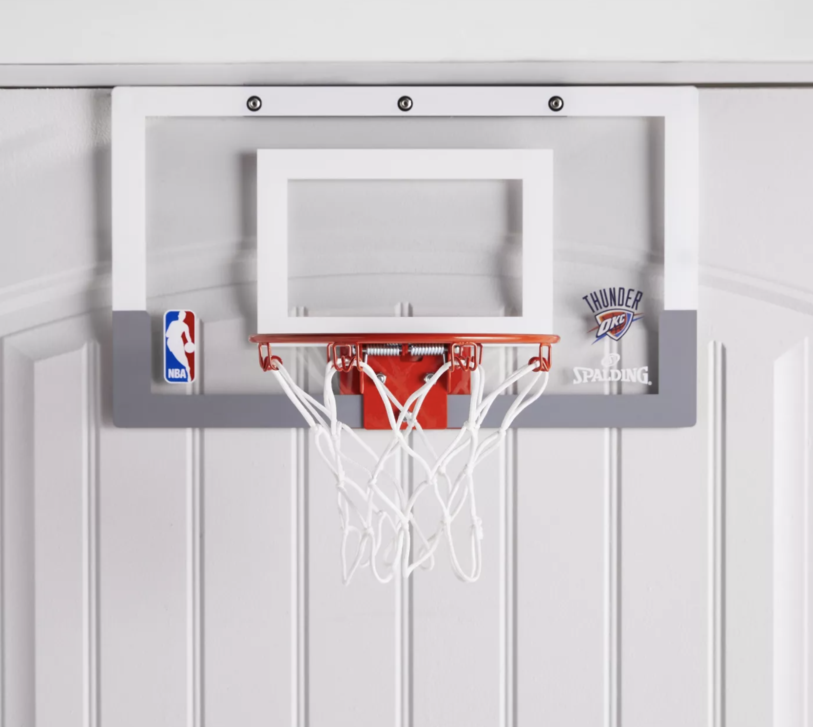 Spalding NBA Slam Jam Over-The-Door Team Edition Basketball Hoop