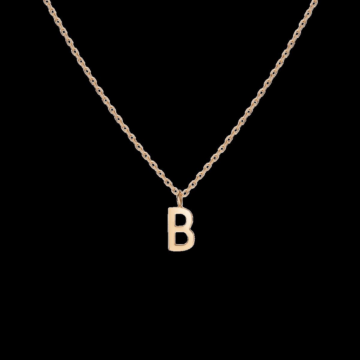 Aurate Mini Gold Letter Charm Pendant