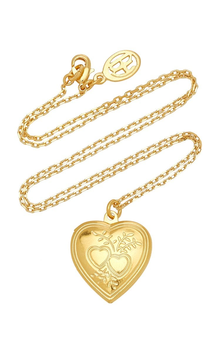 Ben-Amun Heart Locket Gold-Plated Necklace