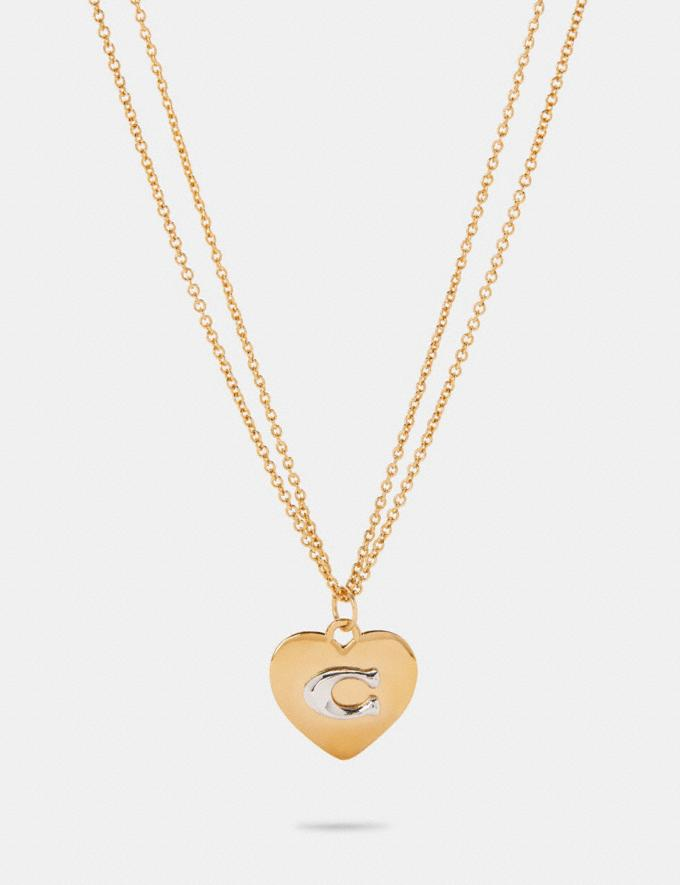 Coach Heart Pendant Necklace