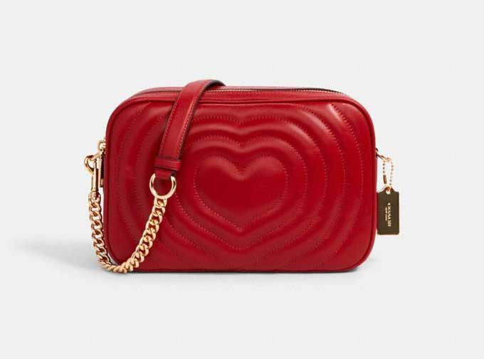 Red Heart Coach Jes Crossbody With Quilting