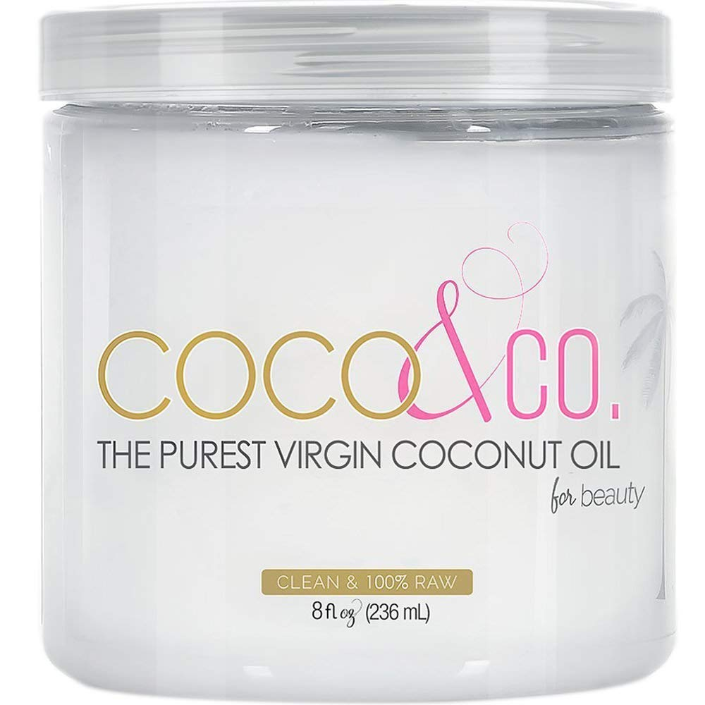 COCO & CO. Organic Pure Extra Virgin Coconut Oil for Hair & Skin, Beauty Grade, 8 Fl Oz