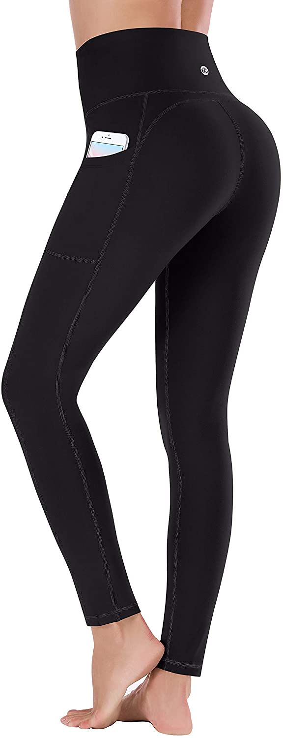 Ewedoos Women's Yoga Pants with Pockets - Leggings with Pockets, High Waist Tummy Control Non See-Through Workout Pants