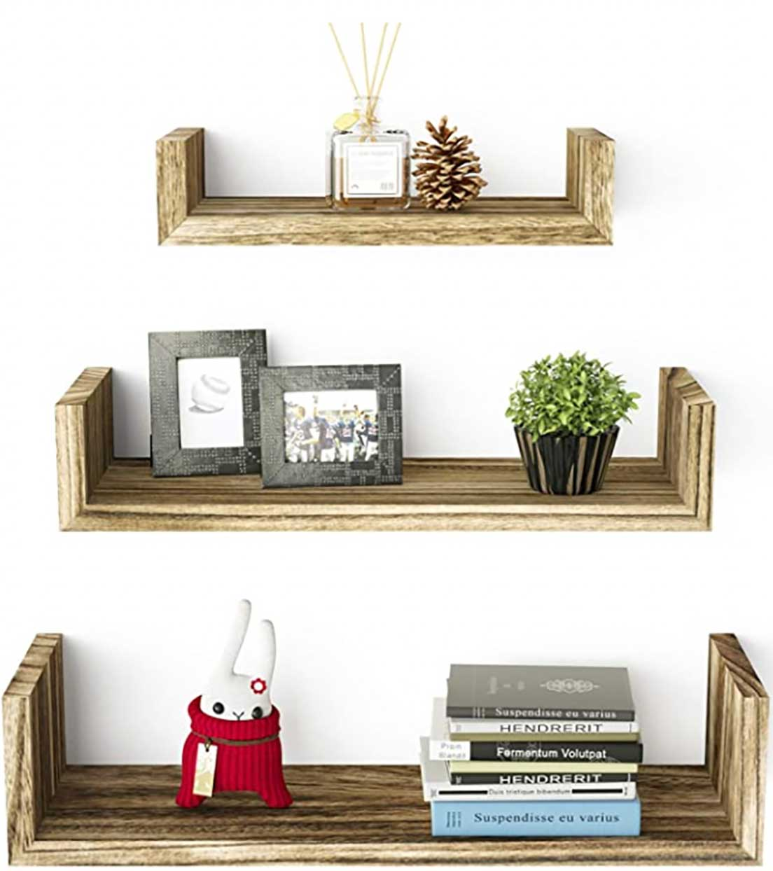 Floating shelves solid would wall-mounted