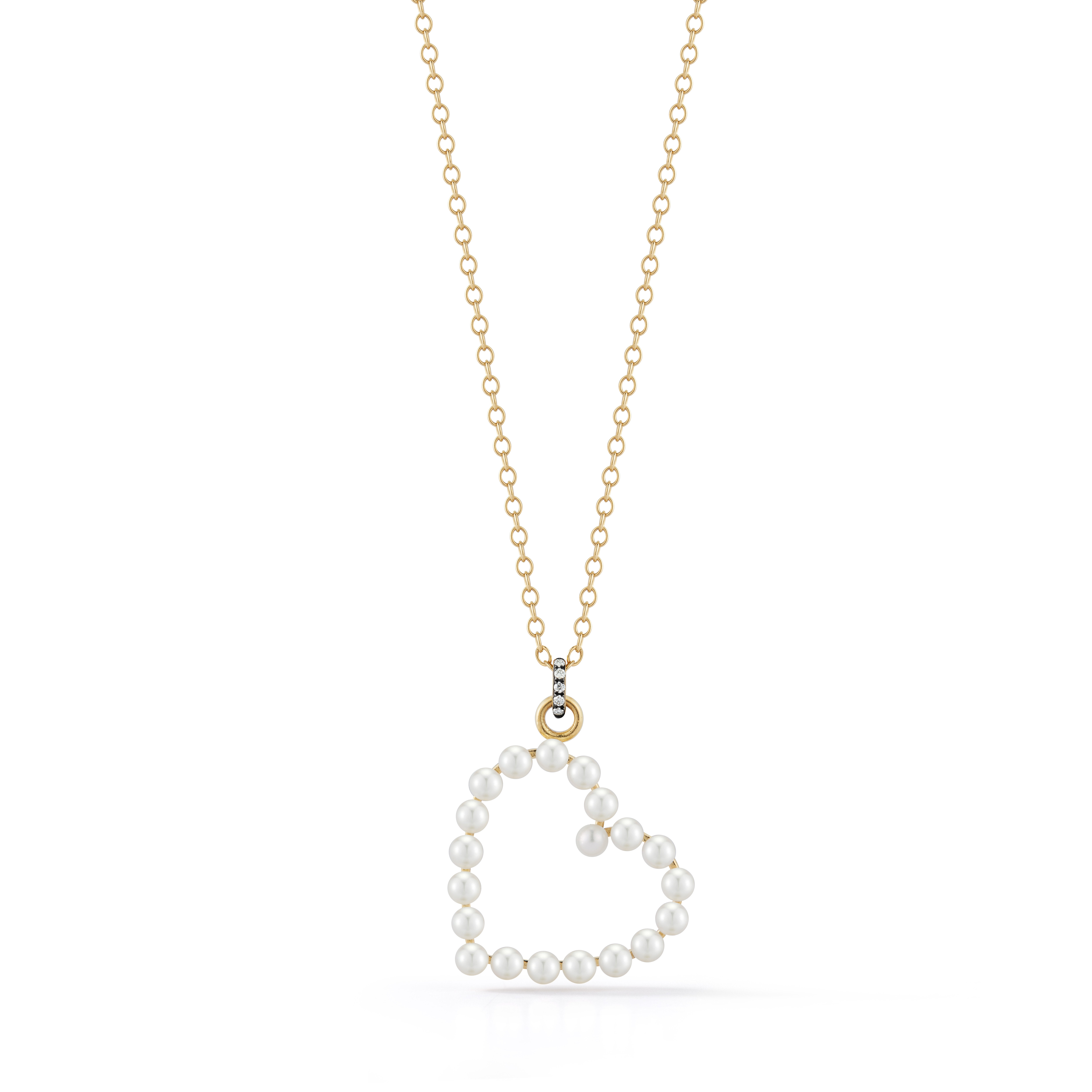 Jemma Wynne Prive Pearl Heart Necklace