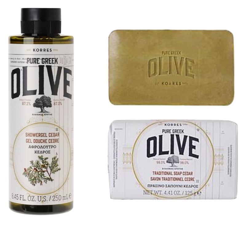 Korres 2-Piece Olive & Cedar Cleansing Mens Set