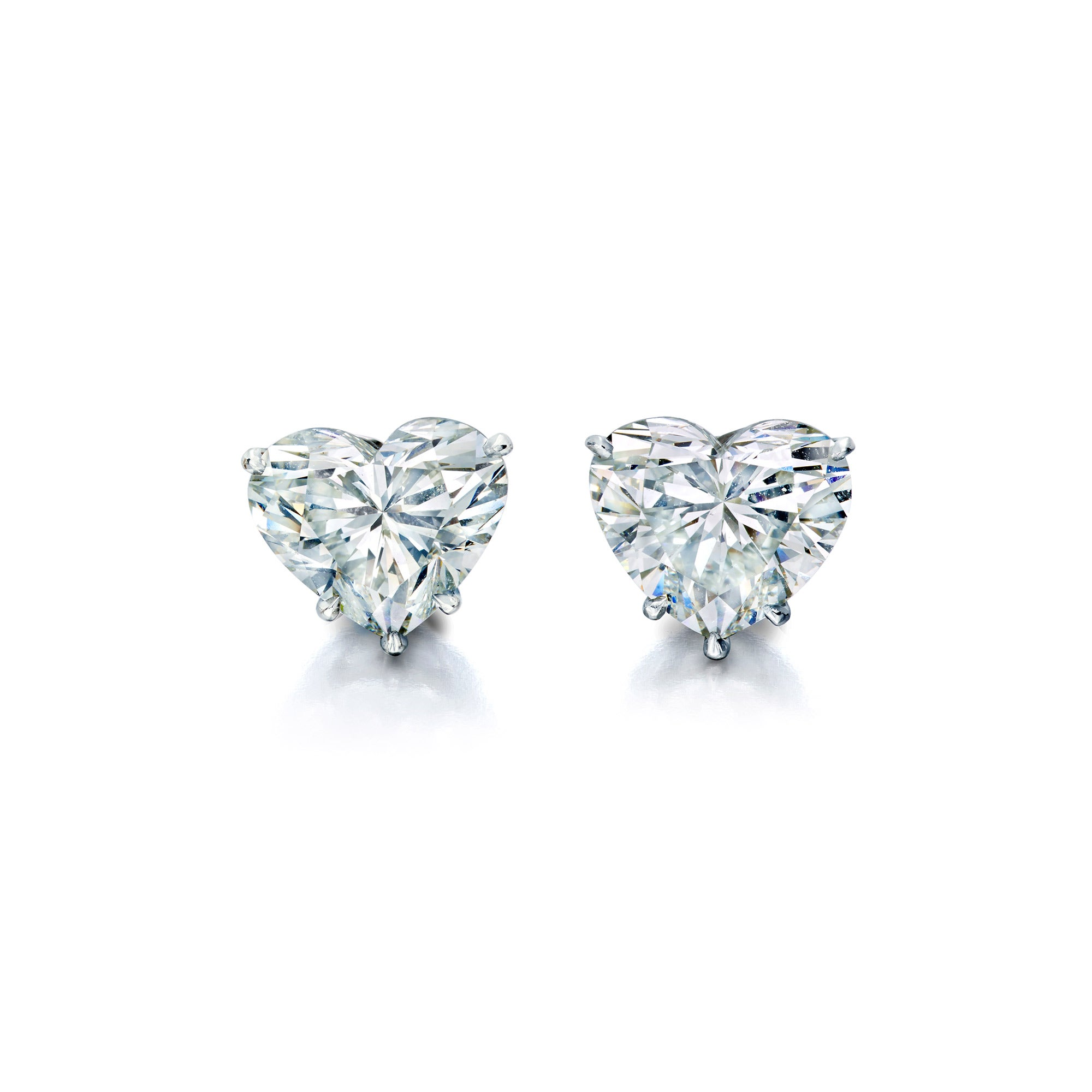 Lauren Addison Heart-Shaped Diamond Stud Earrings