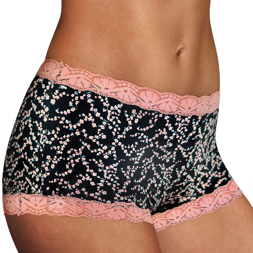 Maidenform Women's Microfiber with Lace Boyshort Panty
