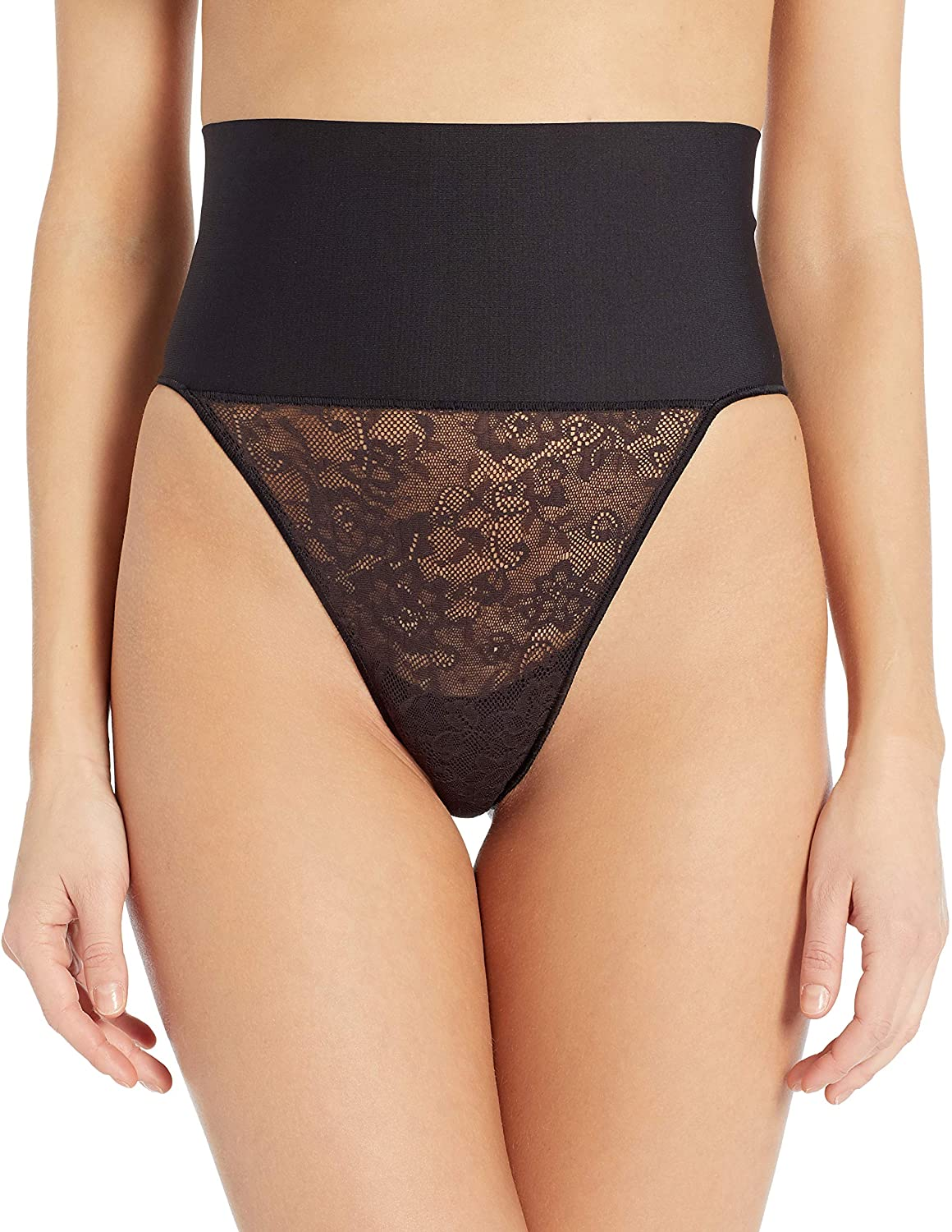 Maidenform Women's Tame Your Tummy Shaping Lace Thong with Cool Comfort